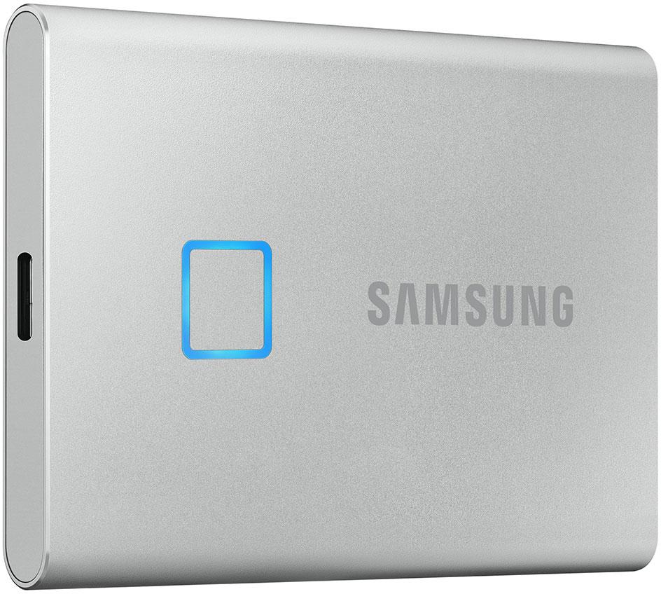 Внешний накопитель Samsung SSD USB 3.2 T7 500 ГБ серебристый