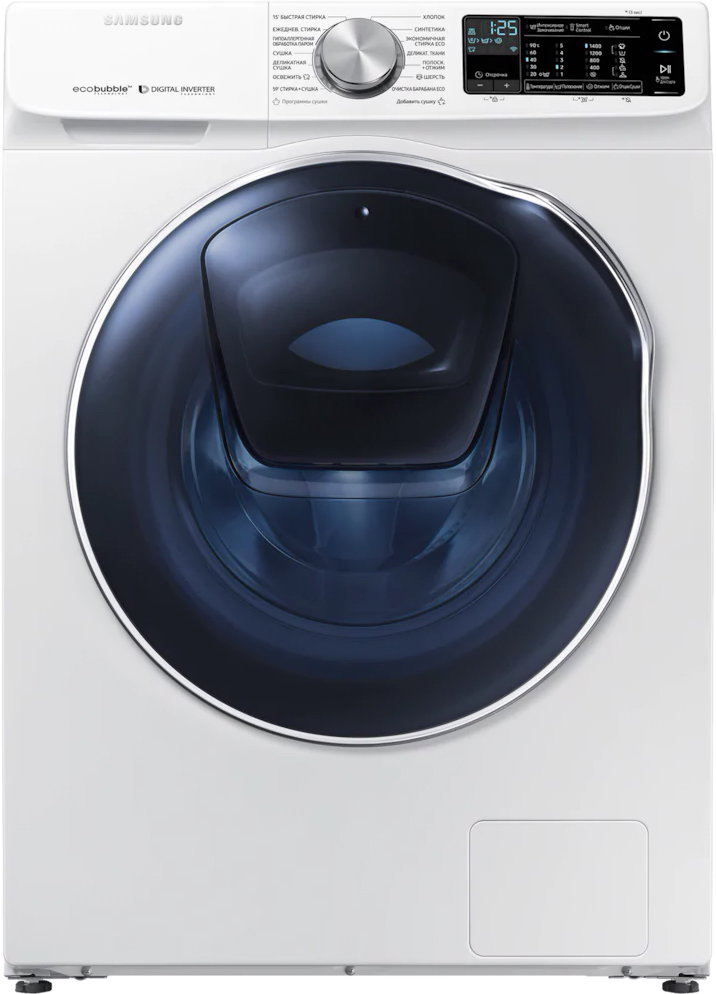 Стиральная машина Samsung WD10N64PR2W/LP с AddWash с сушкой 10/6 кг белый