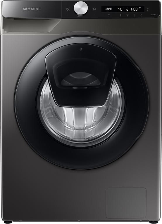 Стиральная машина Samsung WW90T554CAX/LP с Addwash, 9 кг серый
