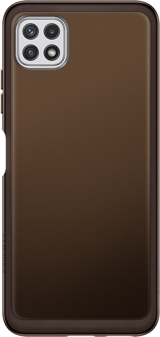 Чехол Samsung Soft Clear Cover для Galaxy A22 черный