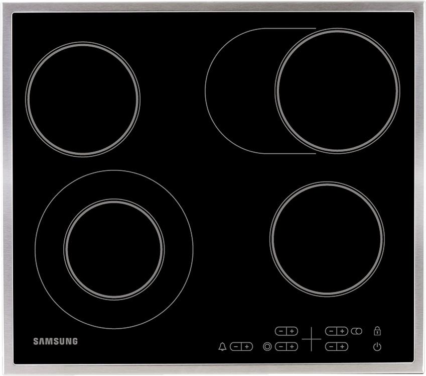 Электрическая варочная поверхность Samsung NZ64T3516CK/WT с расширяемой зоной нагрева черный