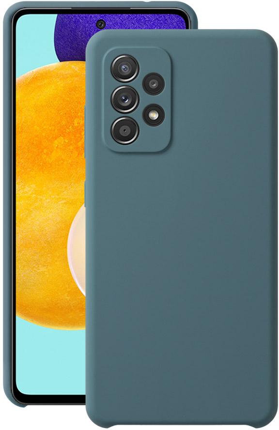 Чехол Deppa Liquid Silicone для Galaxy A52 синий