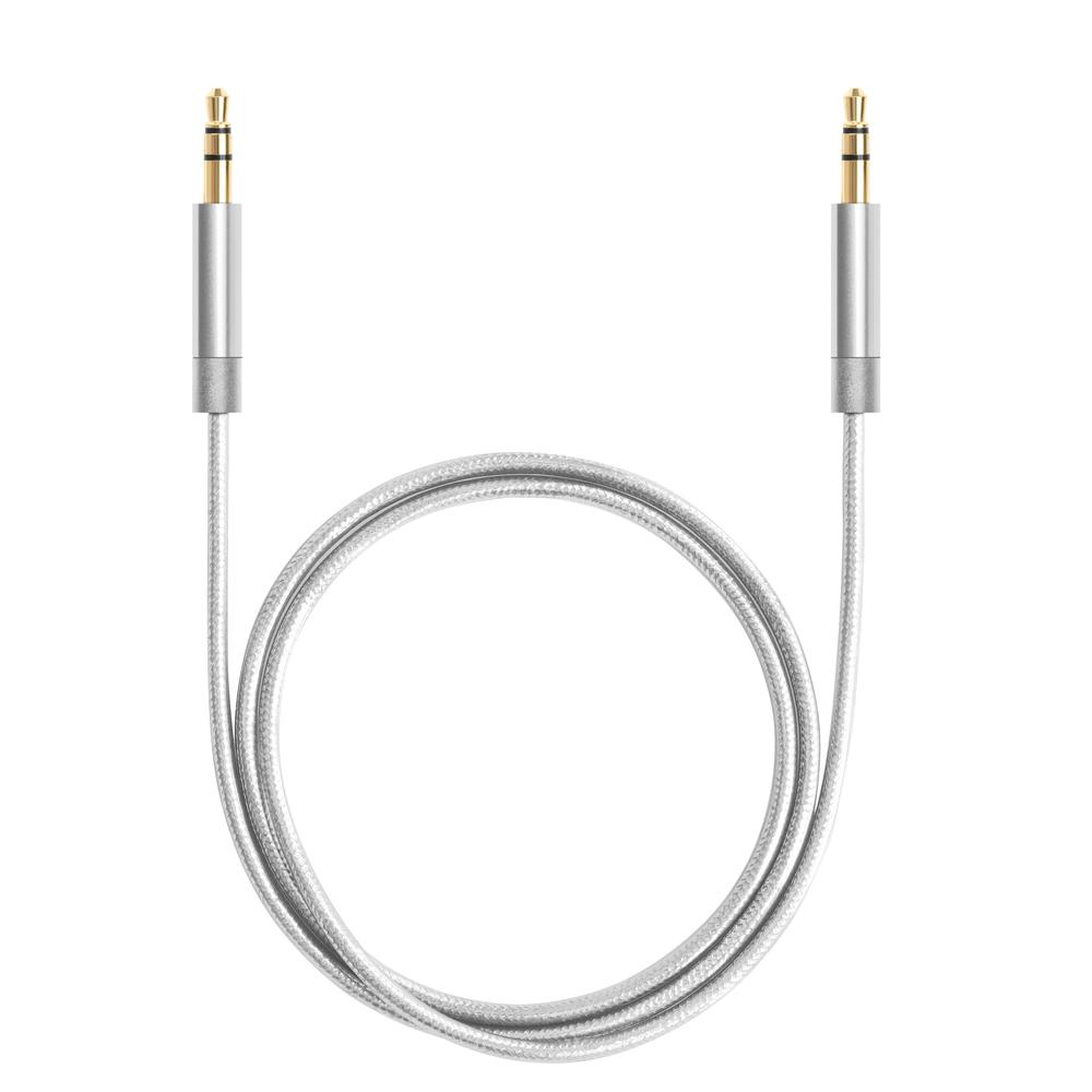Кабель Deppa AUX Pro аудио-кабель 1.2 м белый