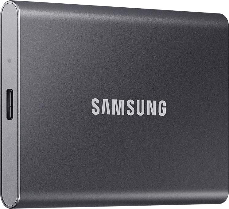 Внешний накопитель Samsung SSD USB 3.2 T7 500 ГБ серый