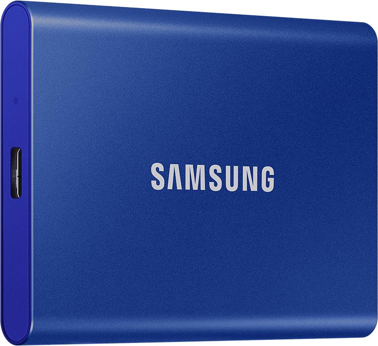 Внешний накопитель Samsung SSD USB 3.2 T7 1 ТБ синий