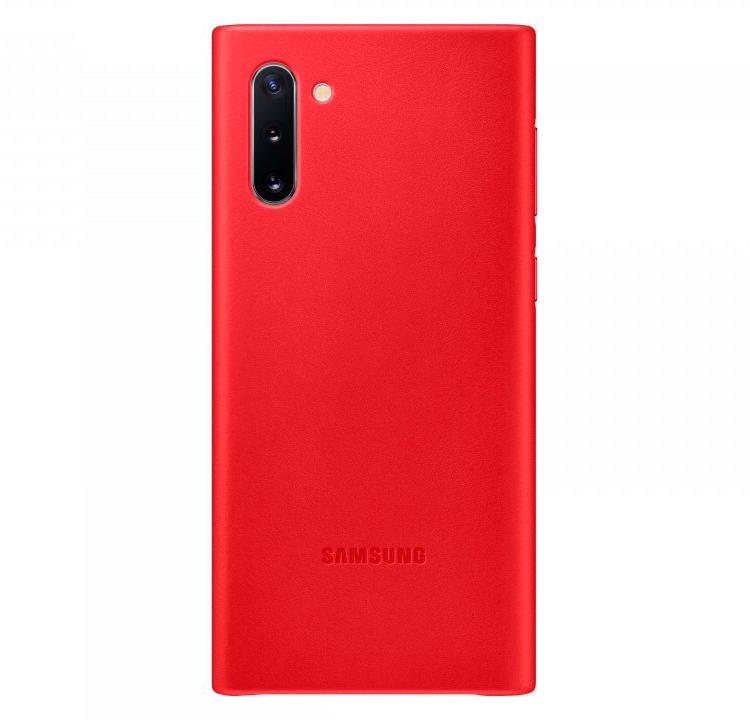 Leather Cover для Galaxy Note10 красный