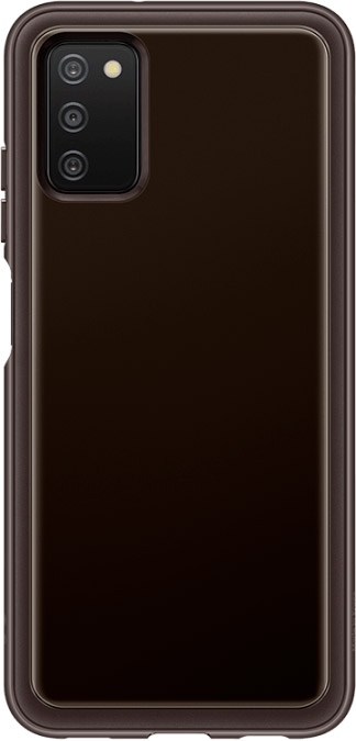 Чехол Samsung Soft Clear Cover для Galaxy A03s черный