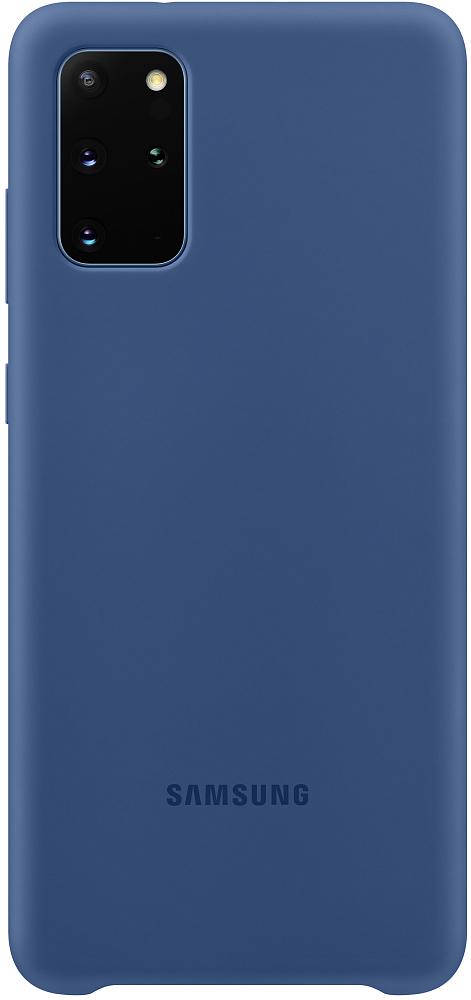 Чехол Samsung Silicone Cover Galaxy S20+ темно-синий