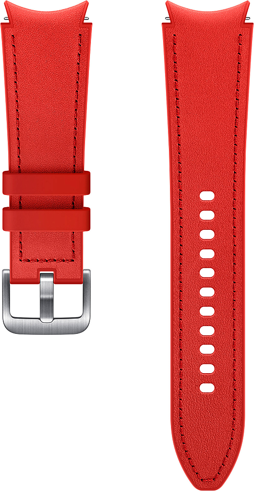 Ремешок Samsung Hybrid Leather Band для Galaxy Watch4 | Watch3, 20 мм, M/L красный