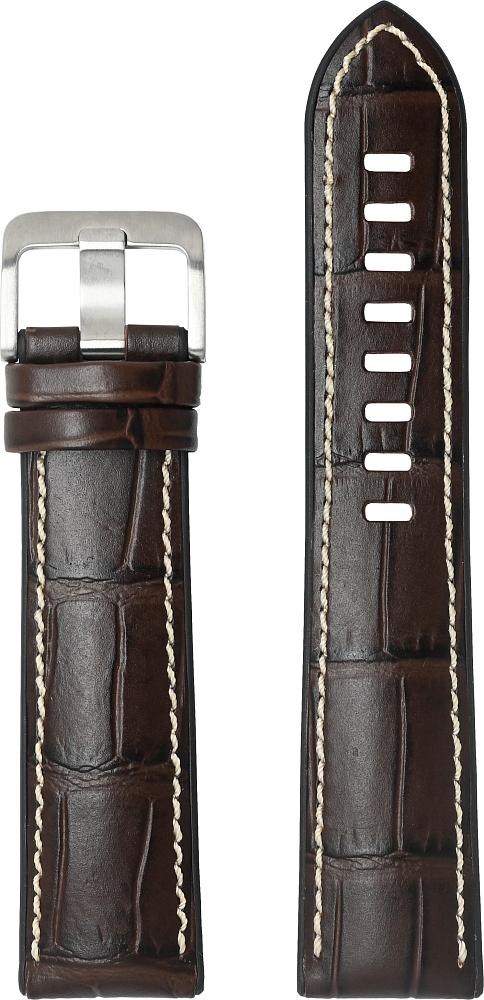 Картинка - SA Serafil Prime для Galaxy Watch3(41мм) | Watch(42мм) | Watch Active 2 | Watch Active коричневый
