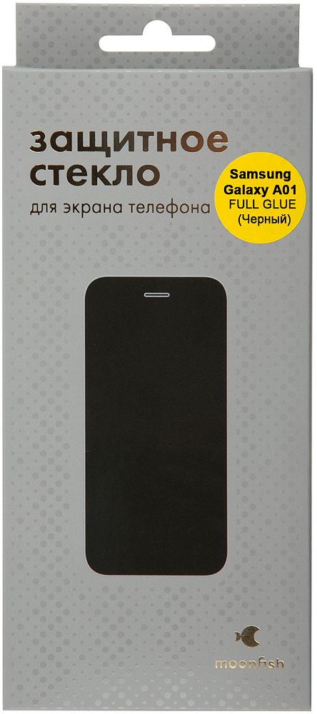 Защитное стекло moonfish Full Screen FULL GLUE для Galaxy A01 черный