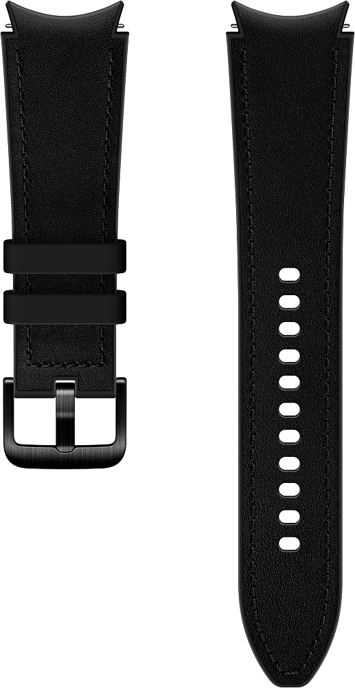 Ремешок Samsung Hybrid Leather Band для Galaxy Watch4 | Watch3, 20 мм, M/L черный
