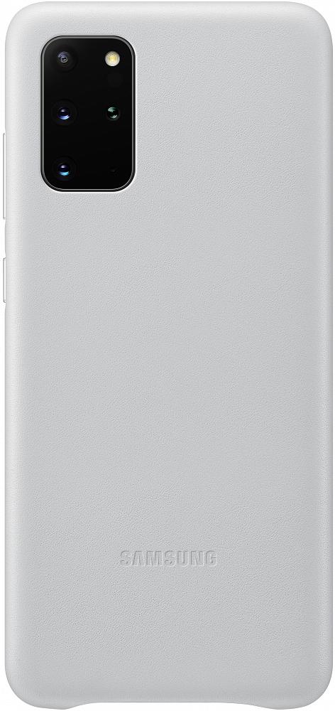Картинка - Leather Cover Galaxy S20+ серебристый
