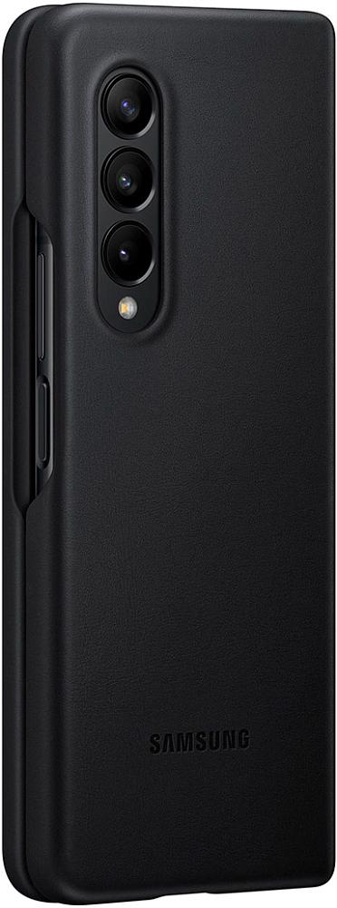 Чехол Samsung Leather Cover для Galaxy Z Fold3 черный