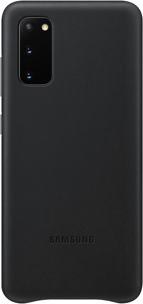 Картинка - Leather Cover Galaxy S20 черный
