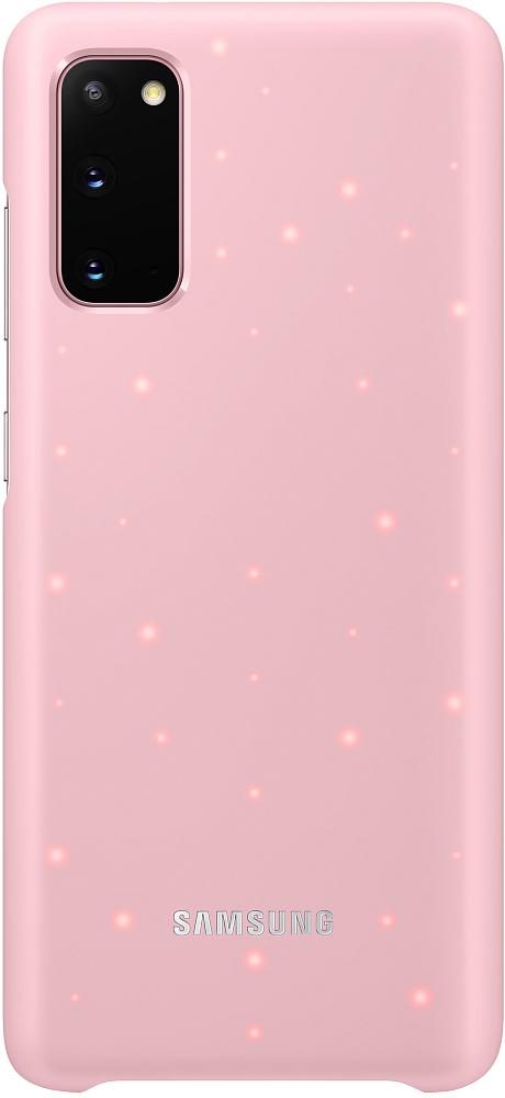 Картинка - Smart LED Cover Galaxy S20 розовый
