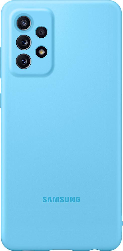 Картинка - Silicone Cover для Galaxy A72 синий