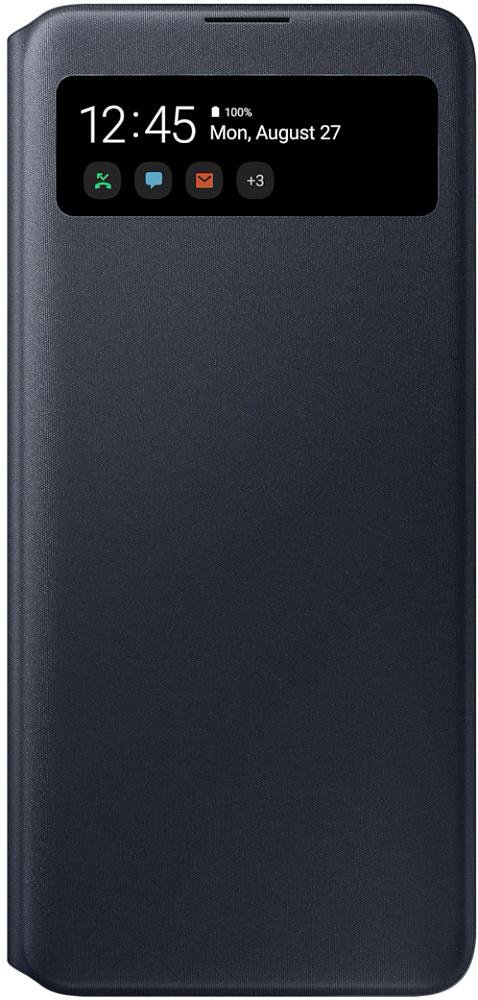 Чехол-книжка Samsung S View Wallet Cover для Galaxy A71 черный