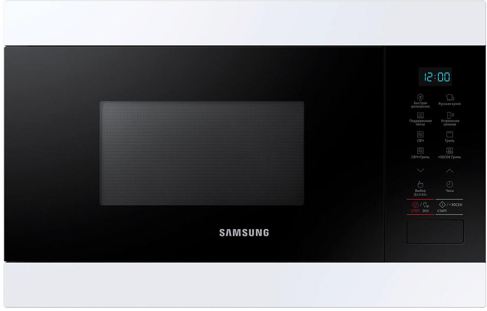 Встраиваемая микроволновая печь Samsung MG22M8054AW/BW 22 л белый