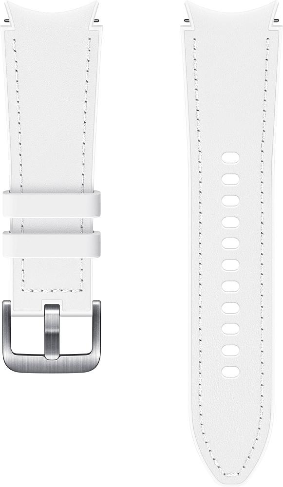 Ремешок Samsung Hybrid Leather Band для Galaxy Watch4 | Watch3, 20 мм, S/M белый