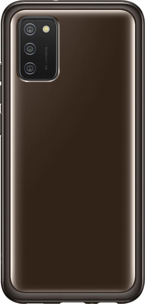 Чехол Samsung Soft Clear Cover для Galaxy A02s черный