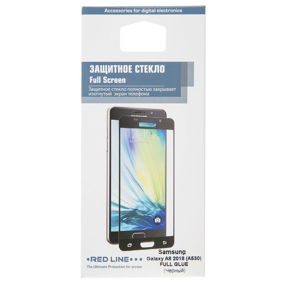 Защитное стекло Red Line для Galaxy A8 2018 Full Screen tempered glass FULL GLUE