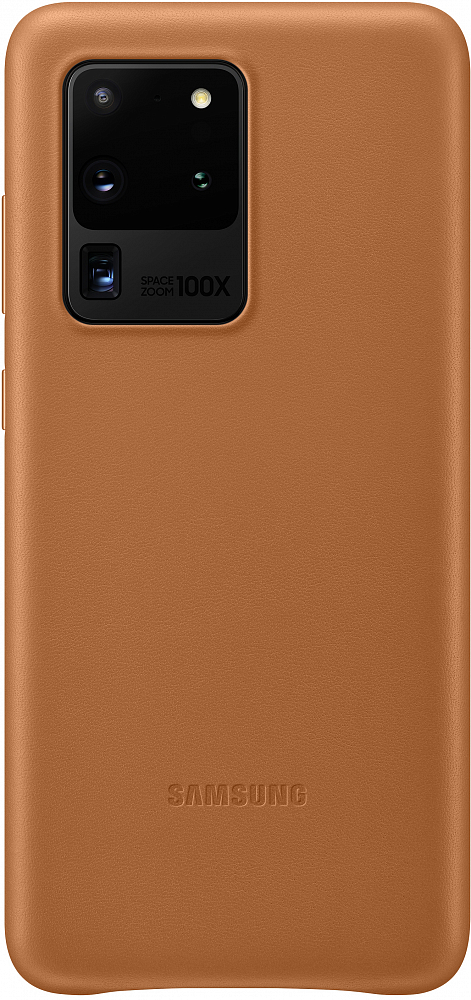 Картинка - Leather Cover для Galaxy S20 Ultra коричневый