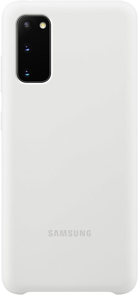 Картинка - Silicone Cover Galaxy S20 белый