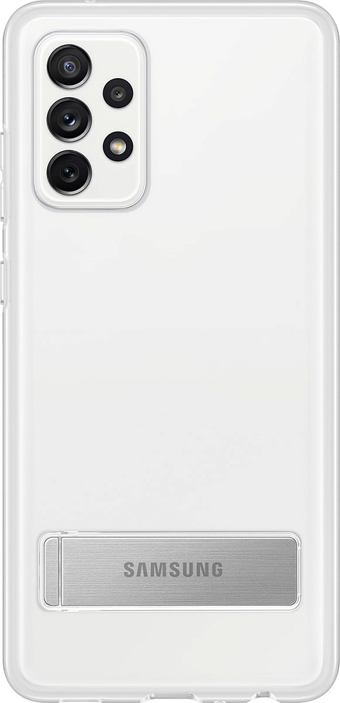 Картинка - Clear Standing Cover для Galaxy A72 прозрачный