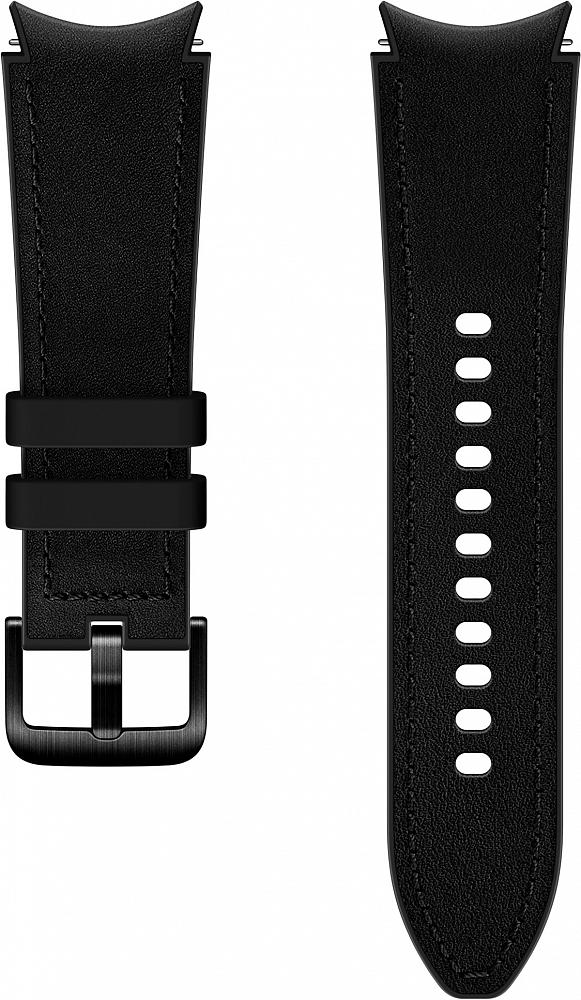 Ремешок Samsung Hybrid Leather Band для Galaxy Watch4 | Watch3, 20 мм, S/M черный