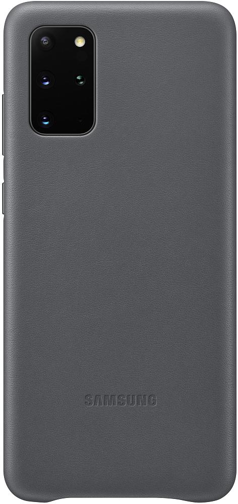 Картинка - Leather Cover Galaxy S20+ серый