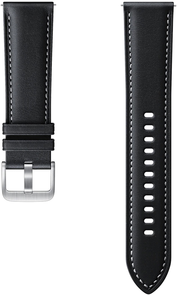 Картинка - Stitch Leather Band для Galaxy Watch3(45мм) | Watch(46мм) черный
