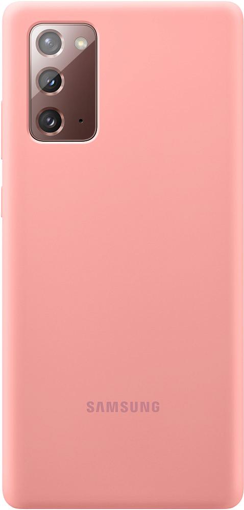 Картинка - Silicone Cover для Galaxy Note20 бронзовый