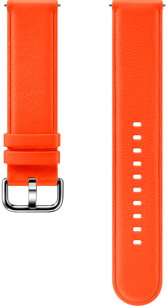 Ремешок Samsung Leather Band для Galaxy Watch3(41мм) | Watch(42мм) | Watch Active 2 | Watch Active оранжевый