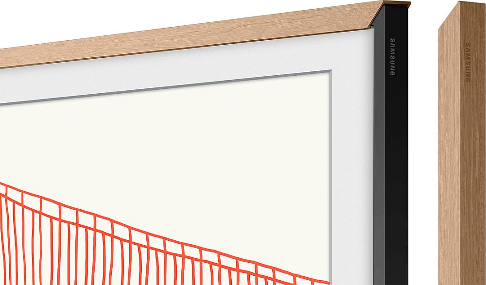 """Дополнительная ТВ рамка Samsung для телевизоров 50"""" The Frame 2021 древесный"""