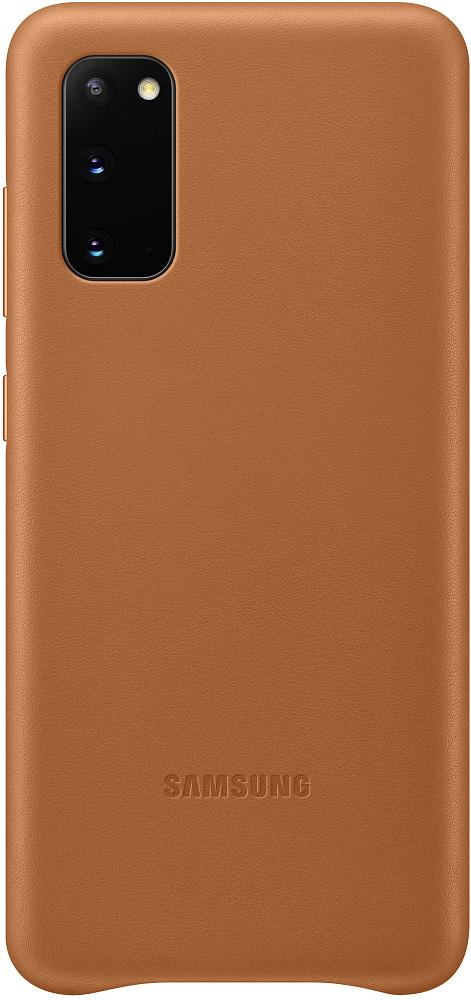 Картинка - Leather Cover Galaxy S20 коричневый