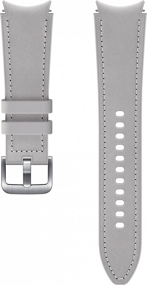 Ремешок Samsung Hybrid Leather Band для Galaxy Watch4 | Watch3, 20 мм, M/L серебристый