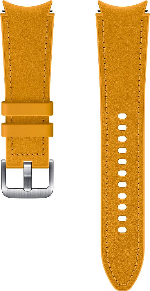 Ремешок Samsung Hybrid Leather Band для Galaxy Watch4 | Watch3, 20 мм, M/L желтый