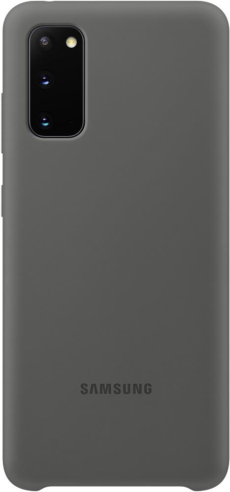 Картинка - Silicone Cover Galaxy S20 серый