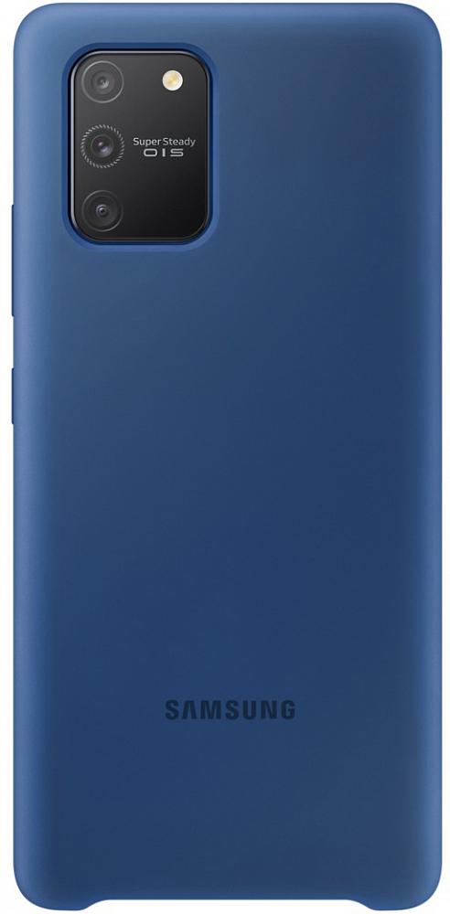 Картинка - Silicone Cover для Galaxy S10 lite синий