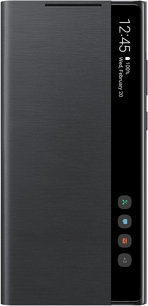Картинка - Smart Clear View Cover для Galaxy Note20 черный