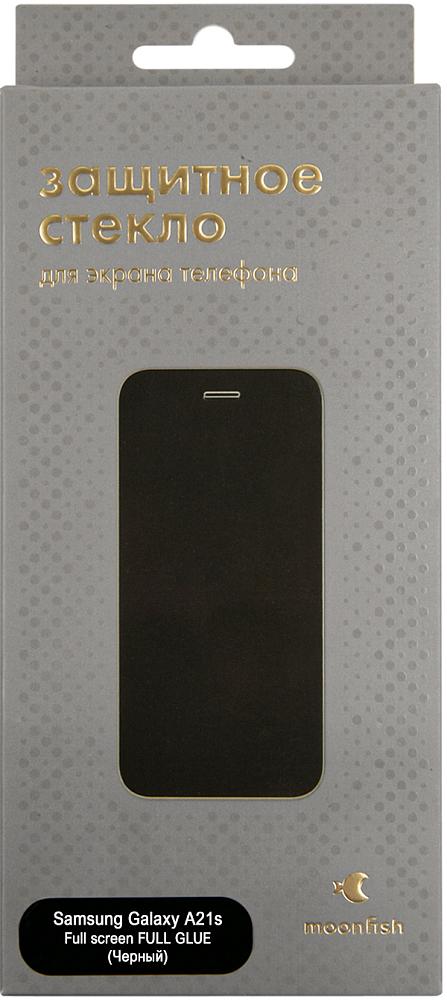 Защитное стекло moonfish Full Screen FULL GLUE для Galaxy A21s черный