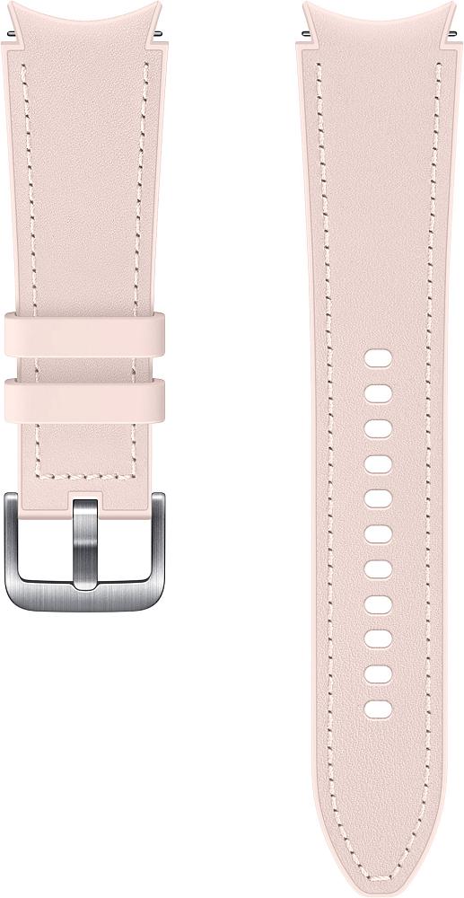 Ремешок Samsung Hybrid Leather Band для Galaxy Watch4 | Watch3, 20 мм, M/L розовый