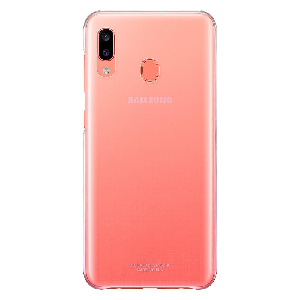 Gradation Cover Galaxy A20 розовый