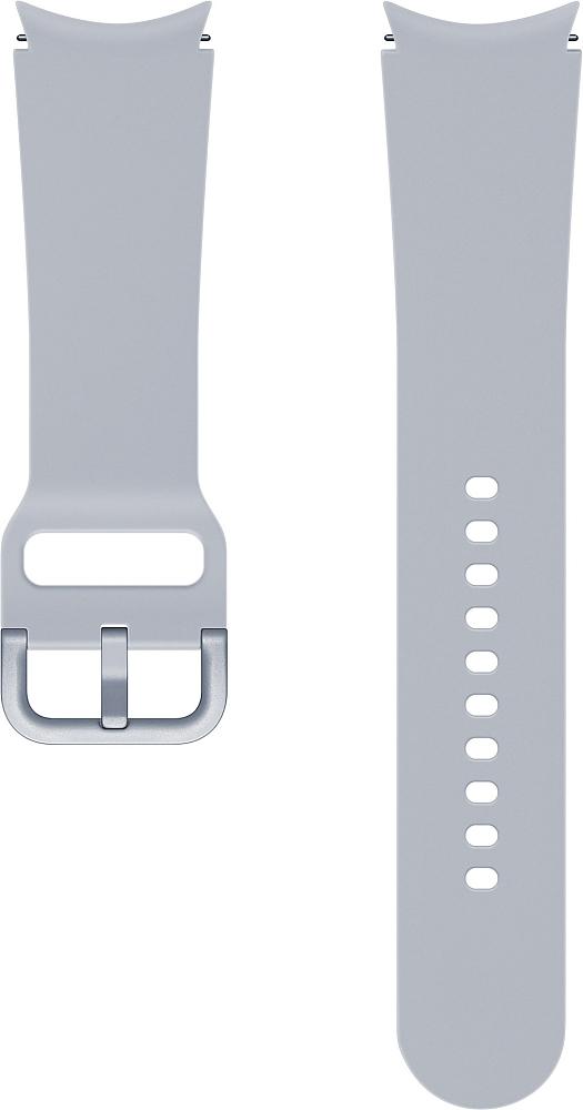 Ремешок Samsung Sport Band для Galaxy Watch4   Watch3, 20 мм, S/M серебристый