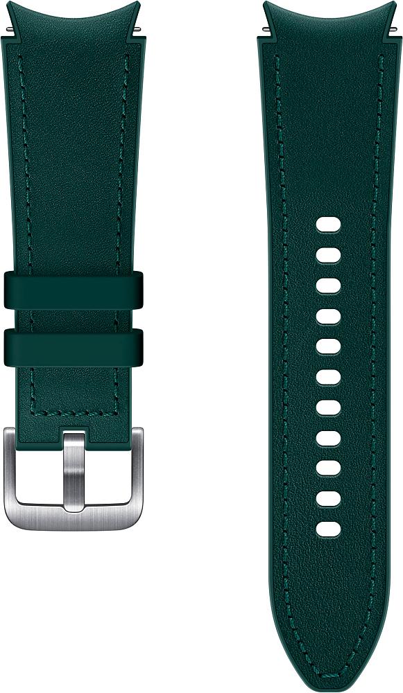 Ремешок Samsung Hybrid Leather Band для Galaxy Watch4 | Watch3, 20 мм, S/M зеленый