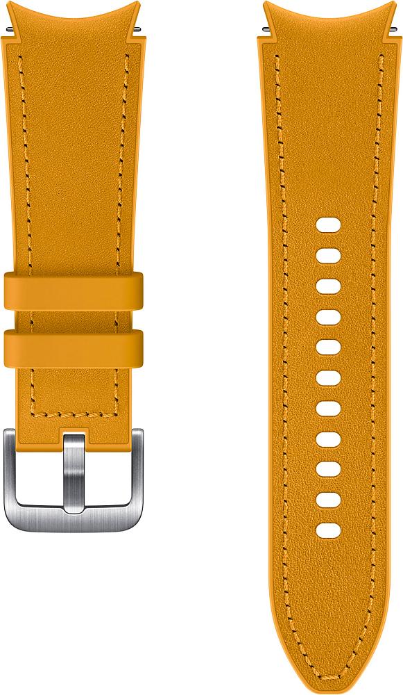 Ремешок Samsung Hybrid Leather Band для Galaxy Watch4 | Watch3, 20 мм, S/M желтый