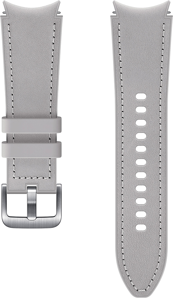 Ремешок Samsung Hybrid Leather Band для Galaxy Watch4 | Watch3, 20 мм, S/M серебристый