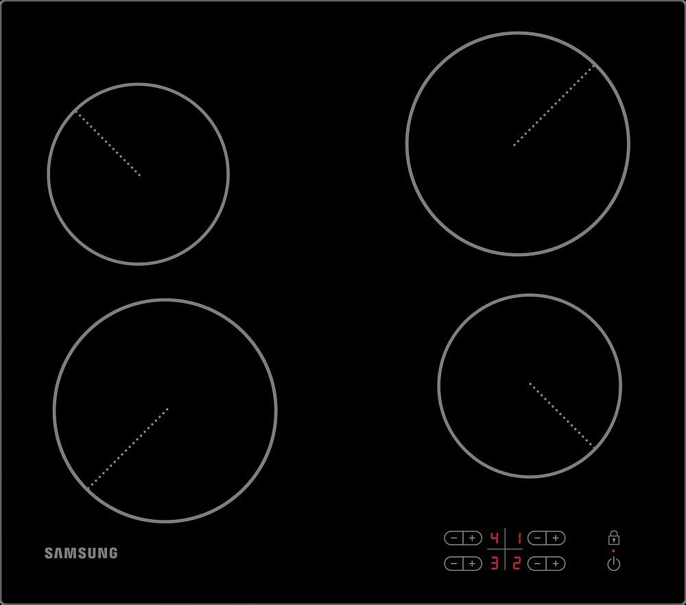 Электрическая варочная поверхность Samsung NZ64T3506AK/WT черный