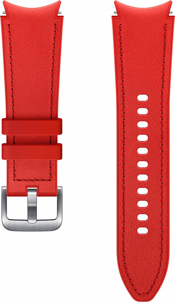 Ремешок Samsung Hybrid Leather Band для Galaxy Watch4 | Watch3, 20 мм, S/M красный